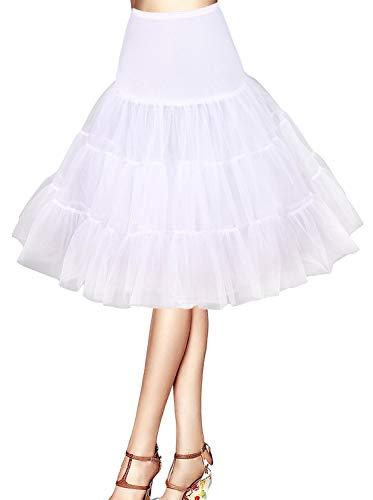 Cancan Enaguas falda vestido midi Cancan 50s Retro