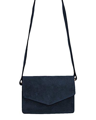 18d95e9c87eac ... ImiLoa Ledertasche klein schwarz braun blau grau Lederhandtasche  Umhängetasche echt Leder Tasche Wildleder Handtasche Dunkelblau ...