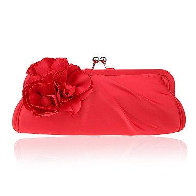 WZW Donna Poliestere Formale / Casual / Serata/evento / Matrimonio / Ufficio e lavoro / Shopping Borsa da sera . red red