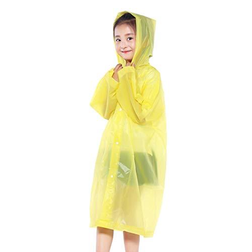 Shenye Boys & Girls Raincoat, Kids Hooded Jacket Rainsuit Rain Poncho Raincoat Cover Long Rainwear for Outdoor Activities
