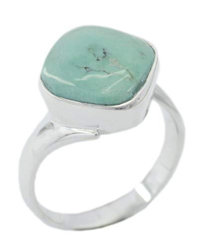 Chandra Edelsteine (riyo normalerweise 925er Sterling Silber klassischer natürlicher Multi-Ring, Türkis-Multi-Edelstein-Silberring)