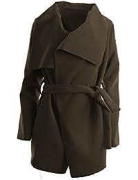 Abrigo de mujer, gabardina con cinturón, talla única, corto