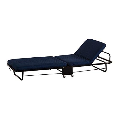 Cama de Invitados Cama Plegable con Colchon Plegable 5 Posiciones de Ajuste Azul