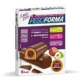 Barrette Dietetiche al Cioccolato con Cuore alla Nocciola 12 Barrette