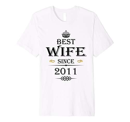 Best Frau seit 2011–7. Hochzeitstag Geschenk T-Shirt