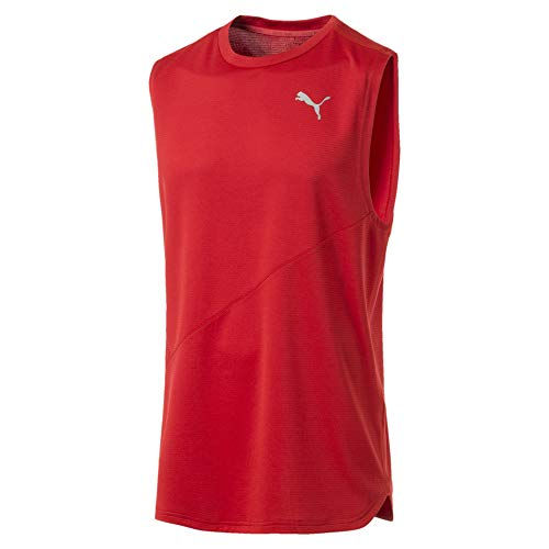 Puma Ignite Mono Herren Ärmelloses Laufshirt High Risk Red L
