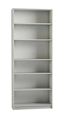 Bücherregal Sockel (Steens Anette Regal, mit 5 Einlegeböden, 80 x 200 x 27 cm (B/H/T), MDF , weiß)