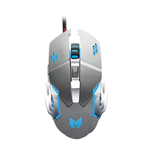 WWVAVA Gaming Maus Wired USB Gamer Mause RGB Licht Optisch Leise Computerspiel Mäuse Für Laptop Notebook Desktop PC, 4 -