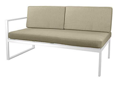 Hevea Milos sofá 2 plazas Blanco Exterior