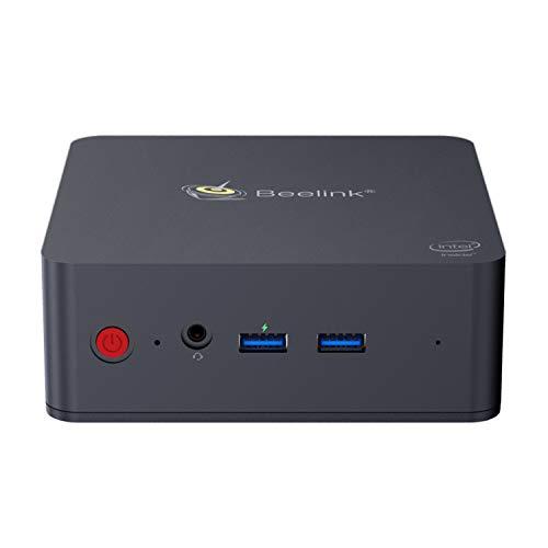 Beelink L55 Mini PC Desktop with Intel Core i3-5005U CPU, 8GB RAM + 128GB SSD, 2.4 + 5.8GHz WiFi, Intel HD Graphics 5500, HDMI, DP, 4K, H.265, 1000Mbps, BT 4.0, Windows support 10