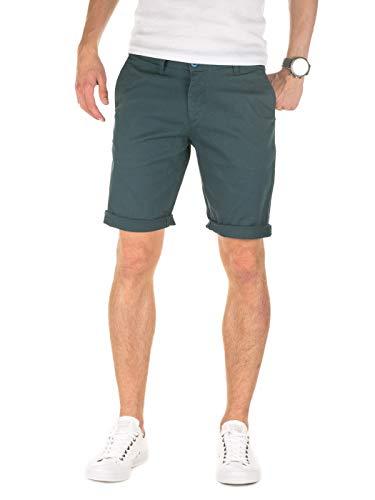 WOTEGA Herren Solid Chino Shorts Penta - Grüne Kurze Männer Sommer Chinohose - Bermuda Hose, Grün (Midnight Navy 194110), W36 -