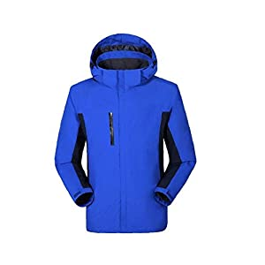 BRAVOLUNE Unisex Desmontable Al Aire Libre Montañismo En 1 Escudo Ropa Impermeable Azul M Esquí Ropa Impermeable… 6