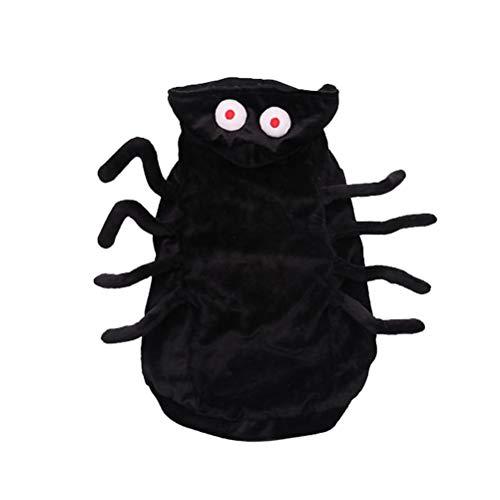 POPETPOP Haustier Spinne Kostüm Lustiger Hund Halloween Kostüm Cosplay Outfits Kleidung Hoodie Mäntel Bekleidung für Hündchen Großer Hund Katze