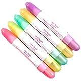 Lápiz corrector de uñas con acetona (5unidades, 15puntas de recambio), colores aleatorios