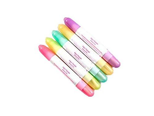 FOONEE Nagellackentferner /Nagellackkorrekturstift,15 austauschbare Spitzen, Farben werden zufällig ausgewählt,5Stück