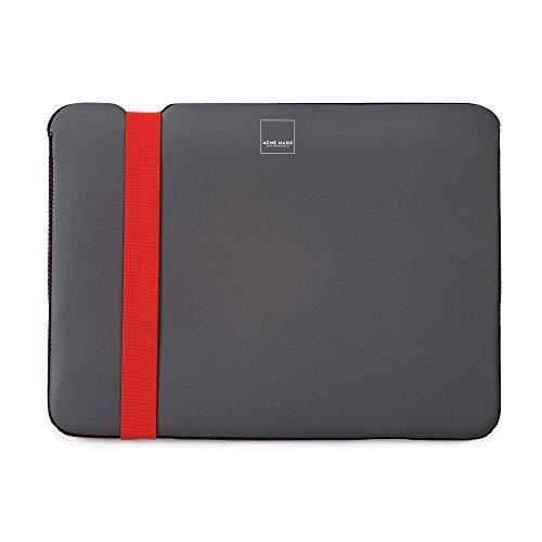 Acme Made Skinny Sleeve M, Ultra-dünne Notebookhülle, 13-14 Zoll, Neopren, grau/orange (Macbook Acme Made Air)