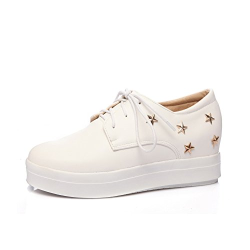 Balamasaapl10151 - Chaussures Plate-forme Femme Blanche