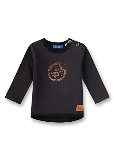 Sanetta Unisex Baby Sweatshirt, Schwarz (Super Black 10015), 68 (Herstellergröße: 068)