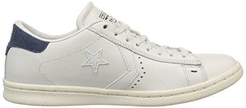 Converse Pro Leather Lp Ox, Herren Sneakers Weiß (white Dust / Dress Blue / Snow Whi)