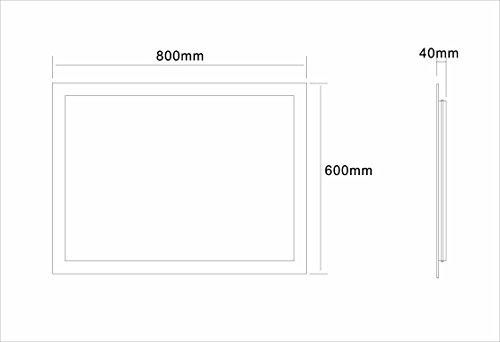 Badspiegel Tageslicht LED – 80 x 60 cm kaltweiß - 6