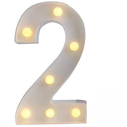 LED Alphabet Buchstabe Lichter Brief Nummer Licht Dekorationen Nachtlichter für Geburtstag Party Hochzeit Sophie Adila (Ohne Batterie) (2)