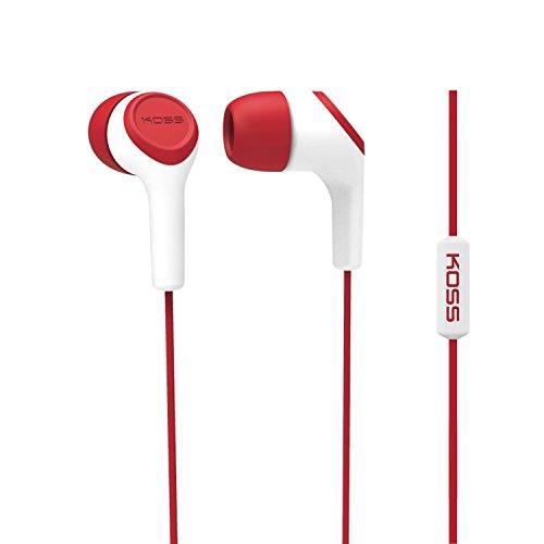 Koss KEB15I Wired Earphones (Red & White)