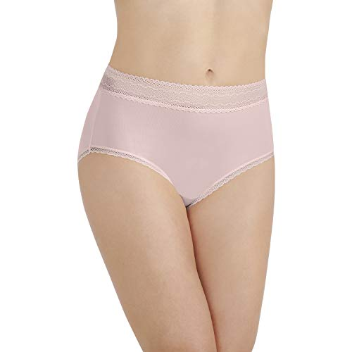 Vanity Fair Damen Flattering Lace Brief Panty 13281 Unterhose, Sheer Quartz, XX-Large (35) -