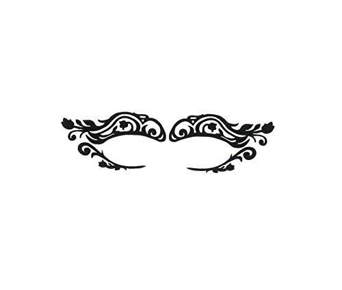(SiaLinda: Augen Tattoo Calisira. Selbsktklebend Augentattoo für Party Augen Make-up Tattoo. Tulpe. Mehrfach verwendbar Augen Sticker.)
