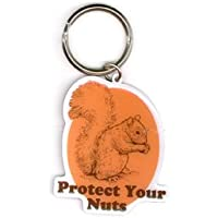 Top Heavy - Protect Your Nuts High Quality Die-Cut Metal Portachiavi Keychain Keyring - 2