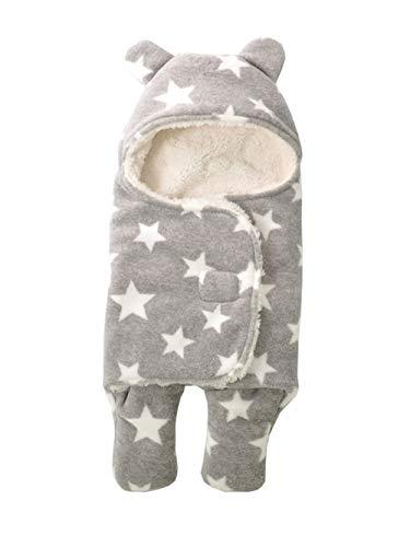 Babyfat sacco nanna con piedini neonato bambino autunno/invernale 2.5tog - pentagramma - grigio label s(0-3m)