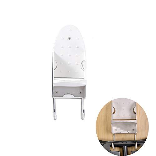 brett-Halter-Wandhalterung mit hitzebeständiger Eisenablage, ideal für kleine Trockenbügeleisen und älteres Modell, ideal zum Aufhängen von T-Leg-Bügeleisen auf Waschküche (Weiß) ()