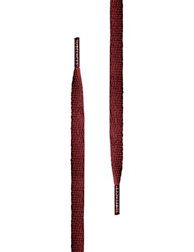 TubeLaces White Flat Schnürsenkel Schnürsenkel Rot (Maroon)