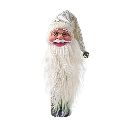 TIREOW Netter Weihnachtsmann Rotwein Flaschen Mund Dekorations Weihnachtsverzierungs Hängender Anhänger für Weihnachtsbaum Haus Dekor (Gold) (Königs Knecht Kostüm)