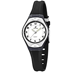 Calypso Women's Quartz Watch with White Dial Analogue Display and Black Plastic Strap K5163/J