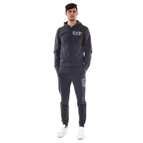 Emporio Armani EA7 Herren Jumpsuit fashion Anzug Sweatshirt Grau EU M (UK 38) 3ZPV62PJ05Z1994