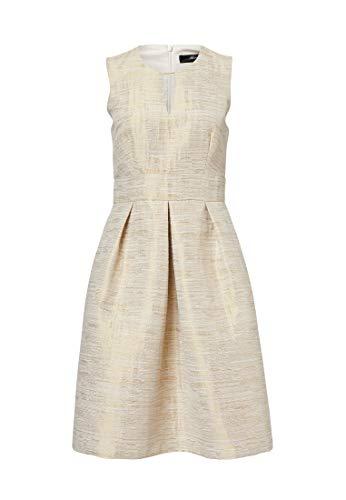 HALLHUBER Jacquard-Kleid mit Zierelement ausgestellter Schnitt beige, 40 -