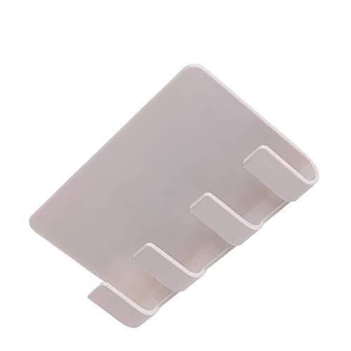 yanana Praktische Adhesive Wandsteckdose Telefon-Halter-Ladebox Halter Standplatz-Halter-Schlüssel Handtuchhalter-Halter Khaki