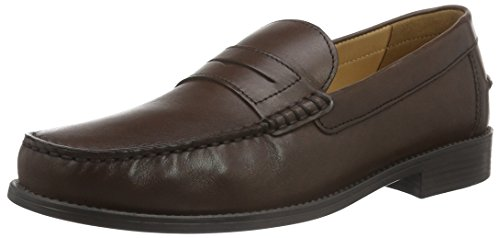Geox U New Damon B, Mocasines Hombre, Marrón DK BROWNC6006