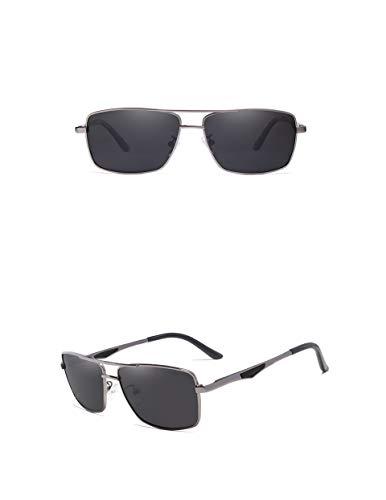 KINGSEVEN 2019 Herren Sonnenbrille, polarisiert und UV400, ultraleicht, Al-Mg, (Gun/Grey), Large