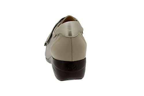 Scarpe donna comfort pelle Piesanto 6989 strappi casual soletta estraibile comfort larghezza speciale Vison