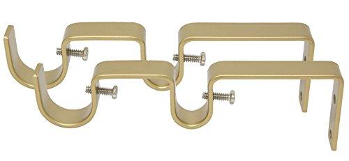 hangstangen-Halterung, für 2,5 cm und 1,6 cm Gardinenstange, 2 Stück Royal Gold ()