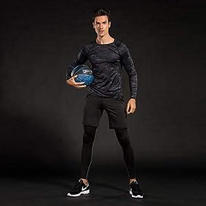 Niksa 3 Pezzi Fitness Palestra Completi Sportivi da Uomo Abbigliamento Sportivo,Compressivo Maglie e T-Shirt Pantaloni… 1 spesavip