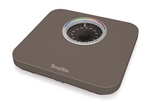 Terraillon Mechanische Personenwaage, Große Skala mit BMI-Anzeige, 150kg, Nautic Up, Braun (Bmi-skala)