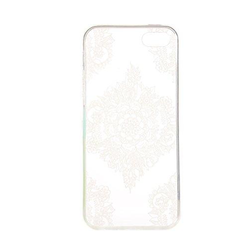 TPU Souple Etui Gel Léger Ultra Slim Flexible Anti Rayures Couverture Couverture de Protection Anti, Coque Cristal pour Apple iPhone 5 / 5s / SE Slim Coque Housse Etui +Bouchons de poussière (3QQ) 14