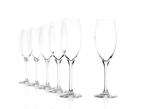 Stölzle Lausitz Champagnergläser Classic 240ml, 6er Set Champagnerglas, spülmaschinenfest, hochwertige Qualität