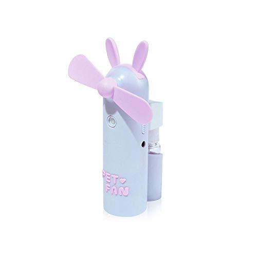 Lesgos 3 en 1 Ventilador de Niebla, Mini Ventilador de Carga USB...