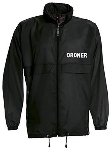 Großer Kragen Jacke (ORDNER-WINDBREAKER/REGENJACKE bedruckt mit