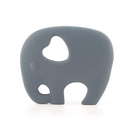 Silicone Grey Elephant Teether, BPA Free, Soother, Sensory toy