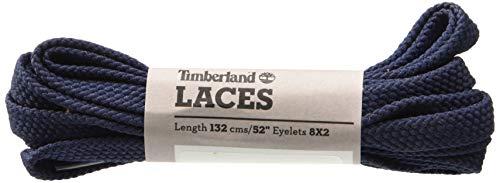 Timberland Flat Polyester Laces 52-inch Unisex-Erwachsene Schnürsenkel, Blau (Navy), Einheitsgröße -