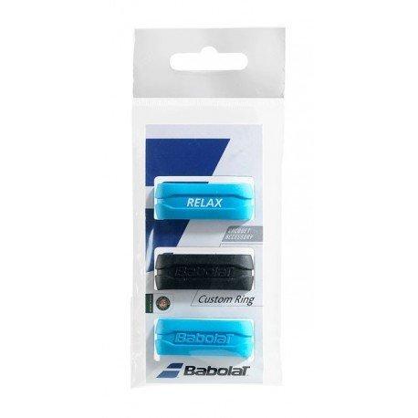 Babolat Custom Ring X 3Schläger Zubehör, unisex, 710025, schwarz / blau, Einheitsgröße (Babolat-schläger)